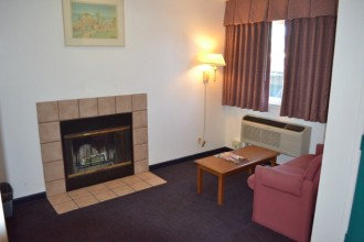 Enjoy our Room With a Fireplace